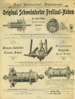 Hentschel, Carl / Hannover Fahrrad Teile Katalog 1904 4