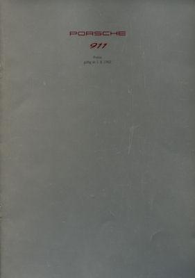 Porsche 911 Preisliste 7.1991 / 3.1992 0