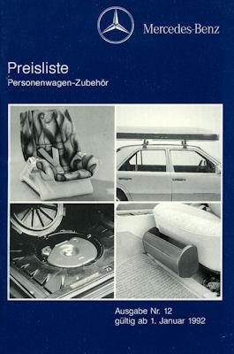 Mercedes-Benz Preisliste 1992 0
