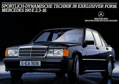 Mercedes-Benz 190 E 2,3 16 Prospekt 1984 0