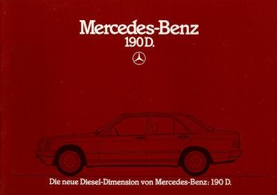 Mercedes-Benz 190 D Prospekt 1984 0
