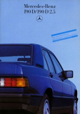 Mercedes-Benz 190 D D 2,5 Prospekt 1986 0