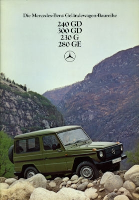 Mercedes-Benz 240 GD- 280 GE Prospekt 1980 0