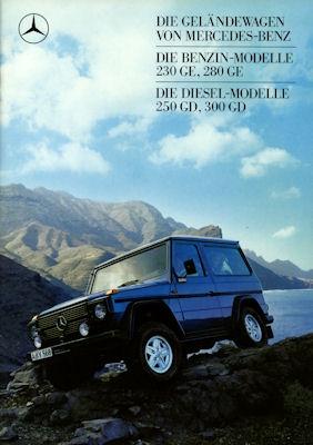 Mercedes-Benz 240 GD- 280 GE Prospekt 1988 0