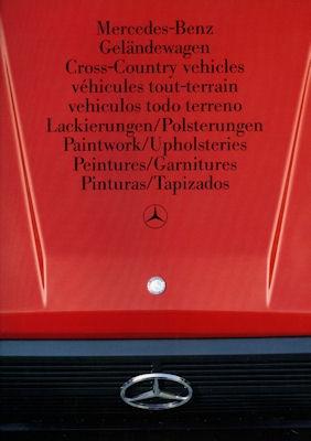 Mercedes-Benz G Modell Farben 1986 0