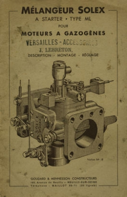 Mélangeur Solex Type ML Vergaser 1930er Jahre?