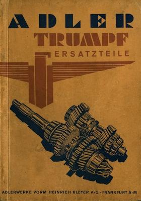 Adler Trumpf Ersatzteilliste 11.1935 0