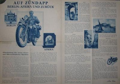Zündapp Z 200 Prospekt 1928
