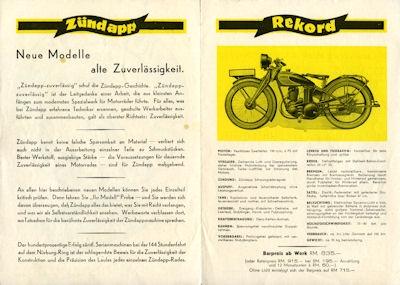 Zündapp Programm 5.1930 1