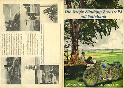 Zündapp Z 300 Prospekt 1929 0