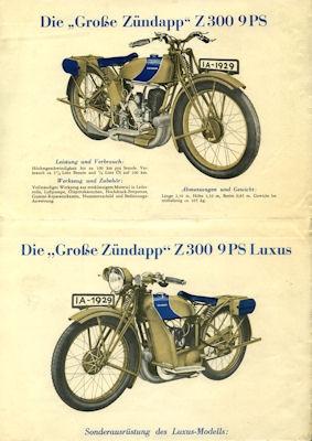 Zündapp Z 300 Prospekt 1929 1