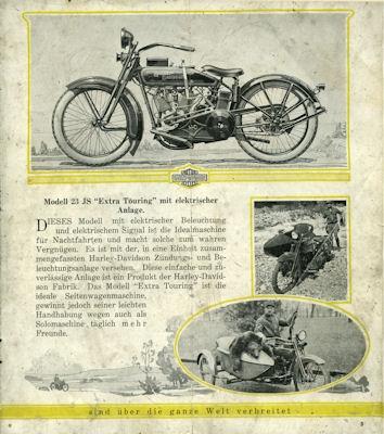 Harley-Davidson Programm 1923 d