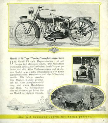 Harley-Davidson Programm 1923 d 1