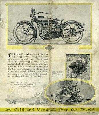 Harley-Davidson Programm 1923