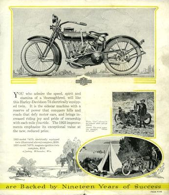 Harley-Davidson Programm 1923 1