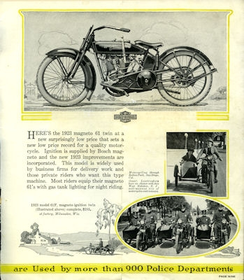 Harley-Davidson Programm 1923 2