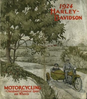 Harley-Davidson Programm-Umschlag 1924