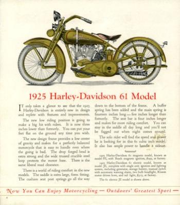Harley-Davidson Programm 1925 1