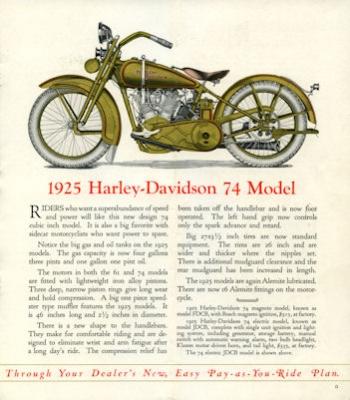 Harley-Davidson Programm 1925 2