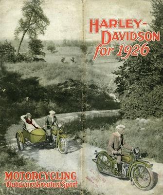 Harley-Davidson Programm 1926