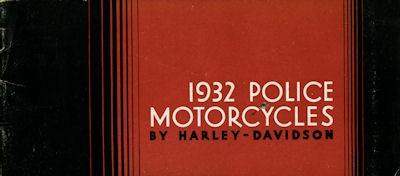 Harley-Davidson Polizei-Programm 1932