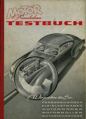 Motor-Rundschau Testbuch 1. Ausgabe 1951 0