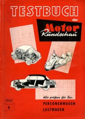 Motor-Rundschau Testbuch 9. Ausgabe 1957