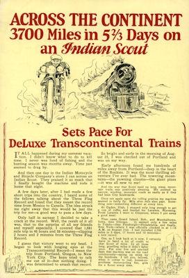 Indian Scout Prospekt 1925
