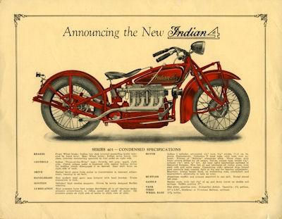 Indian 4 Prospekt ca. 1930