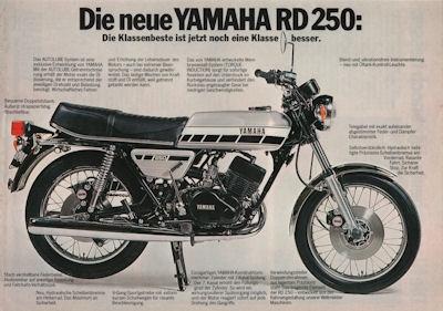 Yamaha RD 250 Prospekt 1976 0