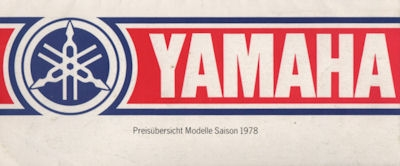 Yamaha Programm 1978 1