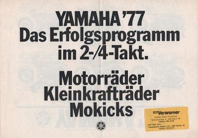 Yamaha Programm 1977 0