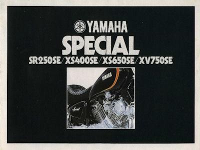 Yamaha Special SR250SE / XS400SE / XS650SE / XV750SE Prospekt 1981 0