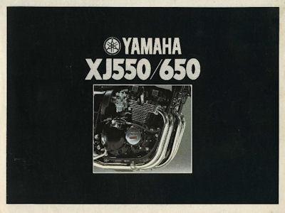 Yamaha XJ 550 / 650 Prospekt 1981 0