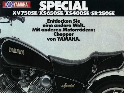 Yamaha Special XV750SE XS650SE XS400SE SR250SE Prospekt 1982 0