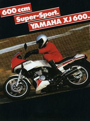 Yamaha XJ 600 Prospekt 1984 0