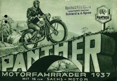 Panther Motor-Fahrräder 1937