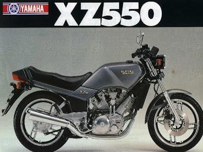 Yamaha XZ 550 Prospekt 1982