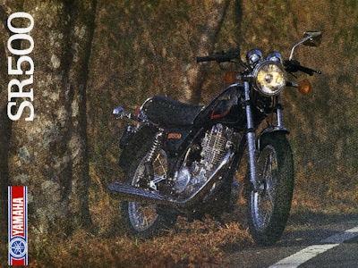 Yamaha SR 500 Prospekt 1984