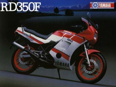 Yamaha RD 350 F Prospekt 1986