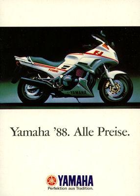 Yamaha Preisliste 1988