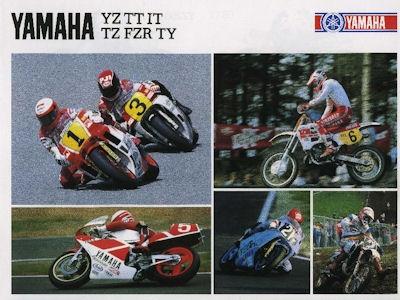 Yamaha YZ TT IT TZ FZR TY Prospekt 1988