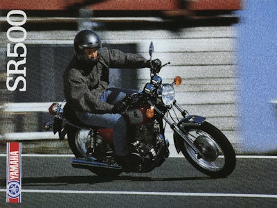 Yamaha SR 500 Prospekt 1988