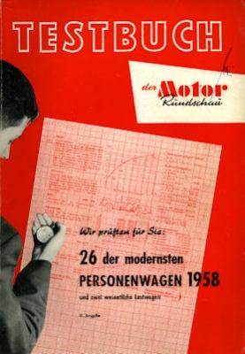 Motor-Rundschau Testbuch 11. Ausgabe 1958