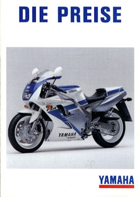Yamaha Preisliste 1991