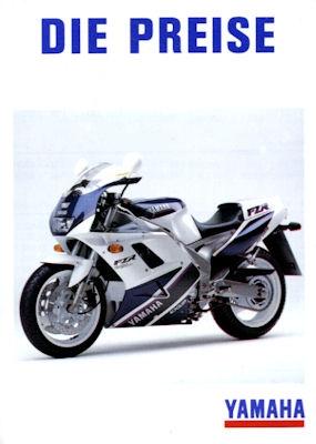 Yamaha Preisliste 1992