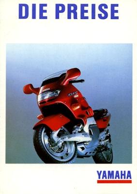 Yamaha Preisliste 1993