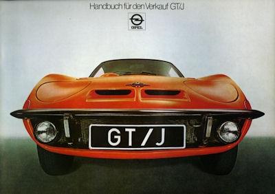 Opel GT/J Handbuch für den Verkauf 1971