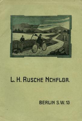 Rusche Nchflgr./Berlin Fahrrad Katalog 1910