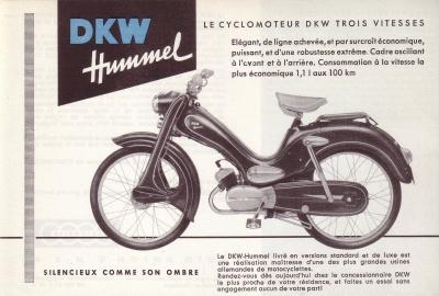DKW Hummel Prospekt ca. 1956 f